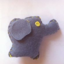 Beginner's Elephant Soft Toy Sewing Kit